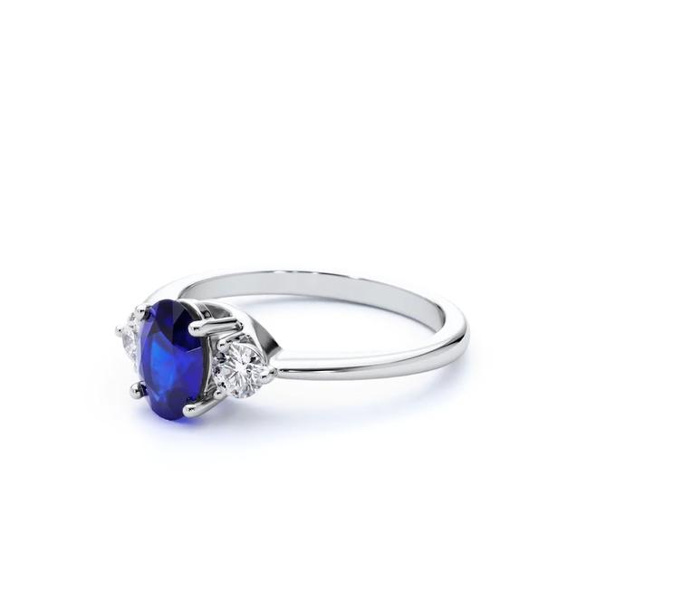 Paragon Blue Sapphire Ring White
