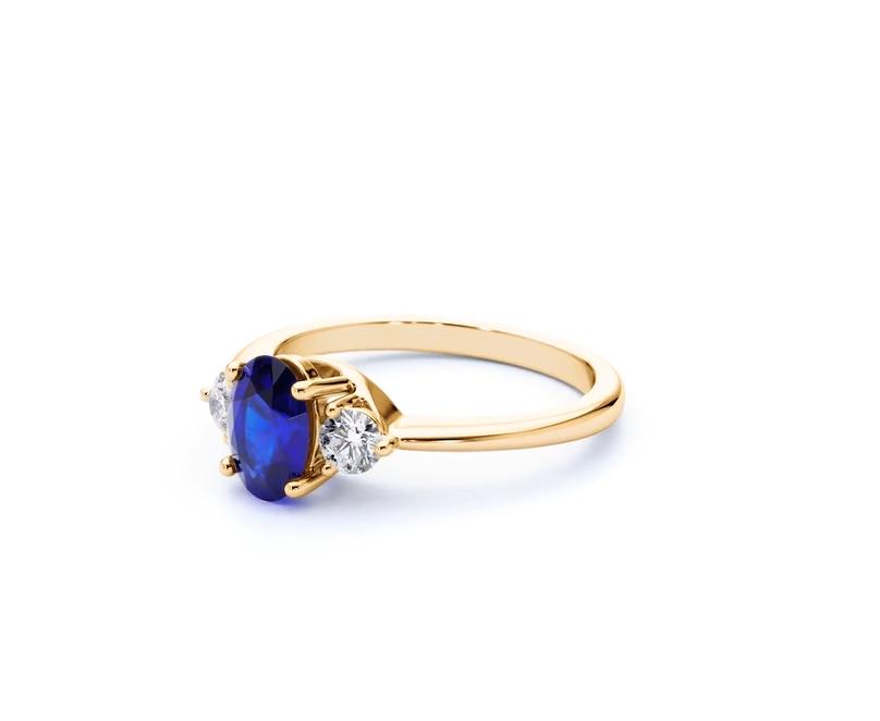 Paragon Blue Sapphire Ring Yellow