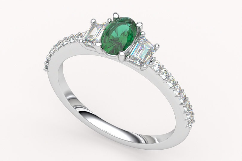 custom emerald ring