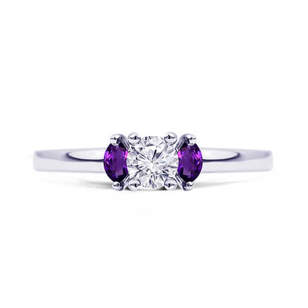 custom amethyst ring