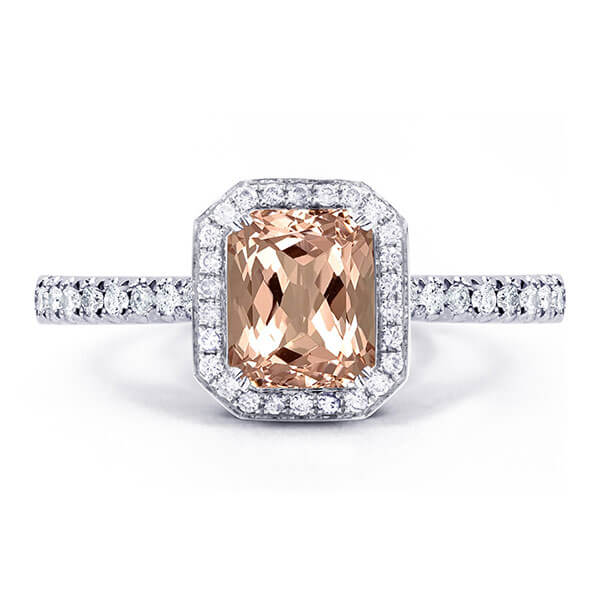 morganite custom ring