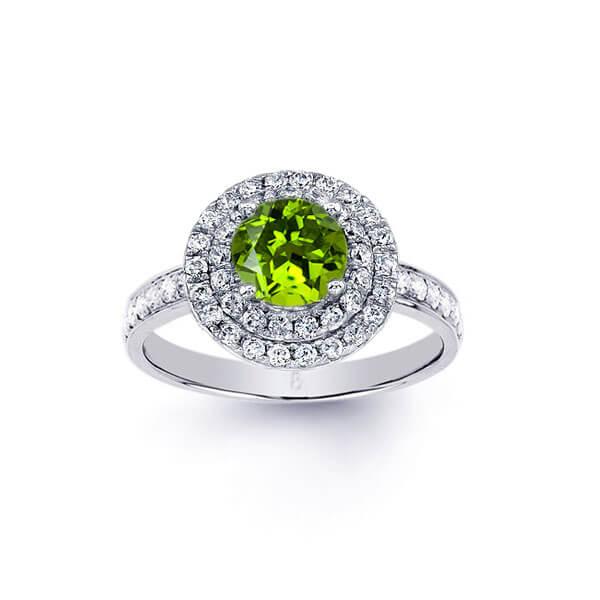 custom peridot ring