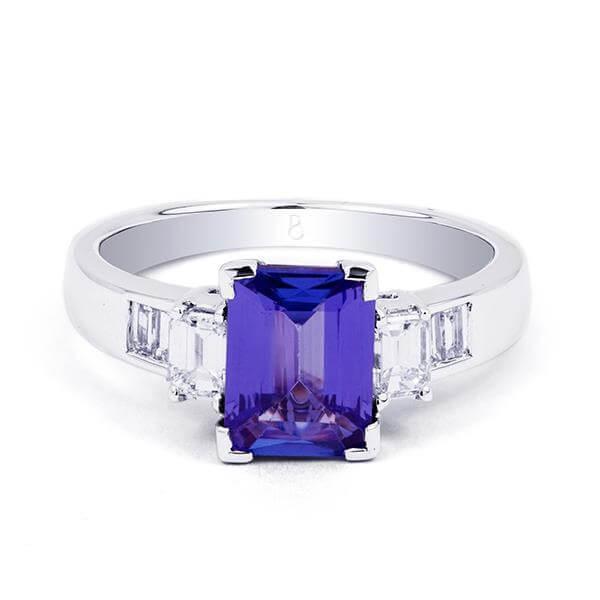 custom tanzanite ring