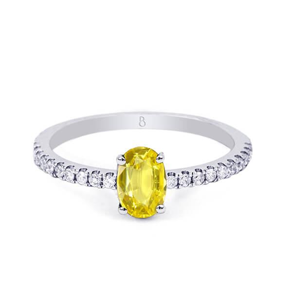 custom yellow sapphire ring