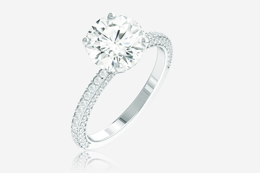 Image of a completed diamond ring