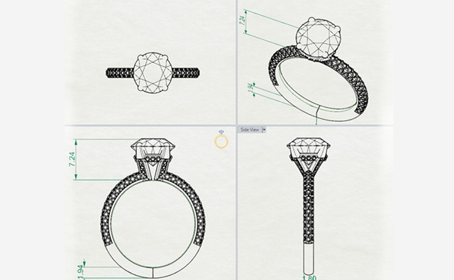 Design sketch of a ring