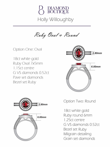 holly willoughby's ruby ring concept two