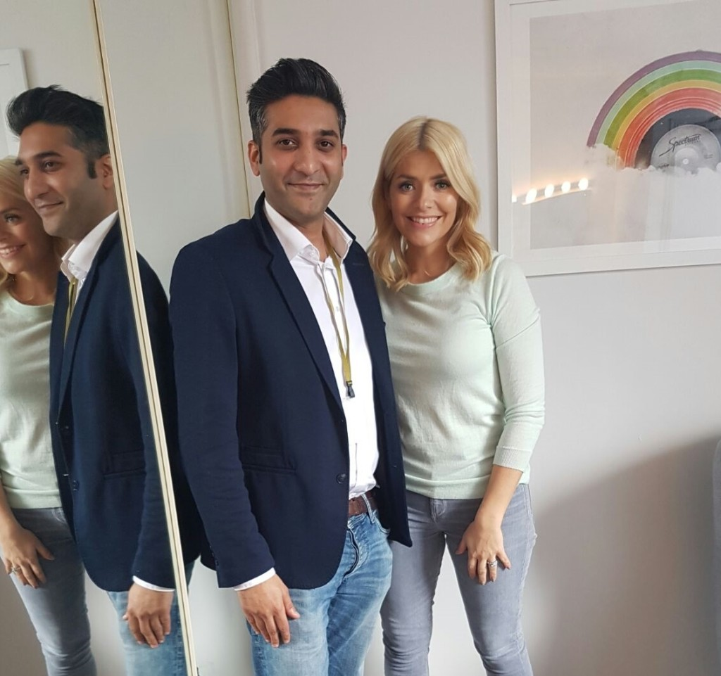 holly willoughby with founder pritesh