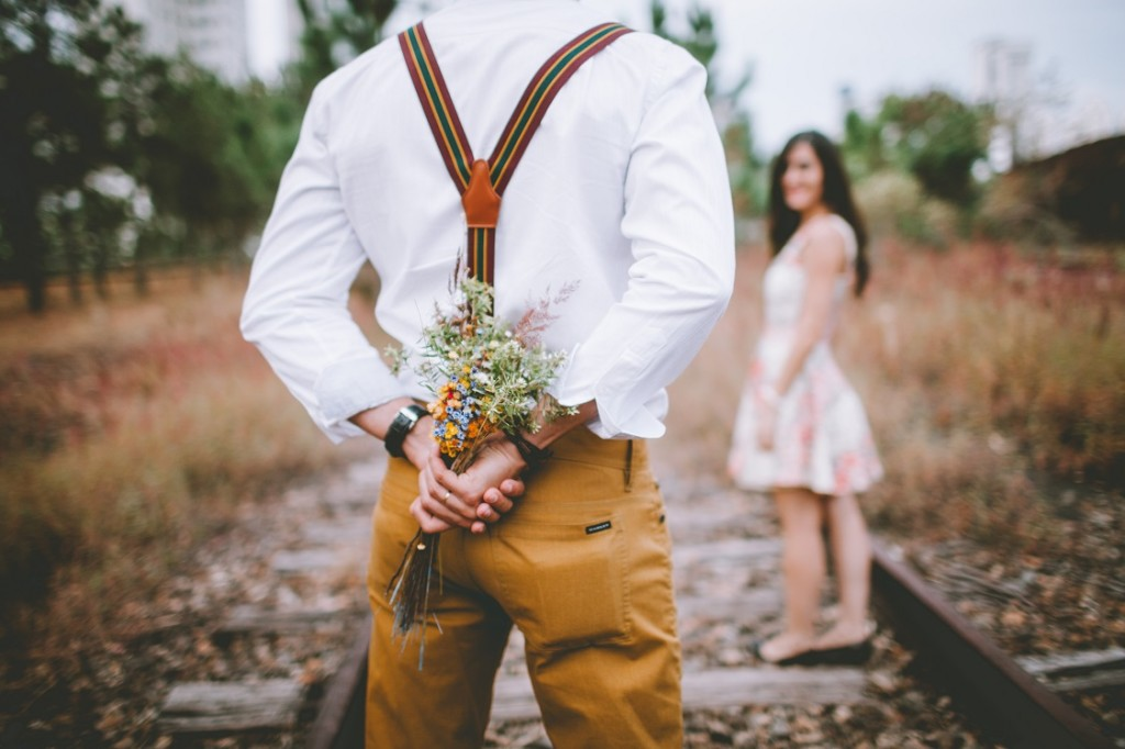 man about to propose to woman