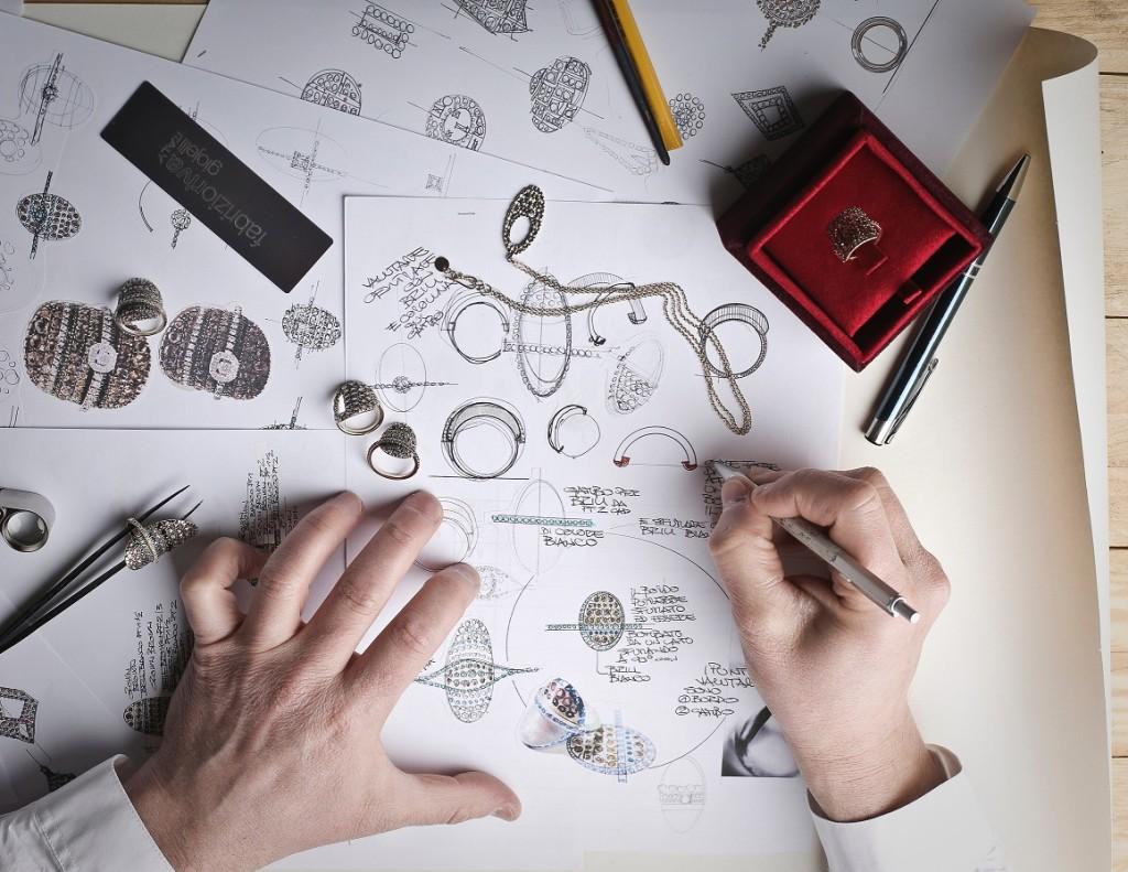 jeweller designing a custom ring