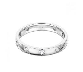 Modern Platinum 950 Diamond Eternity Ring