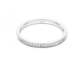 Serenity 18ct White Gold Milgrain Diamond Wedding Band