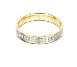Twilight 9ct Yellow Gold Diamond Wedding Band
