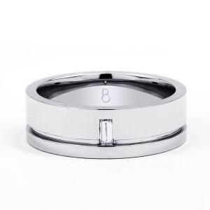 White Gold 7mm Men's Wedding Ring