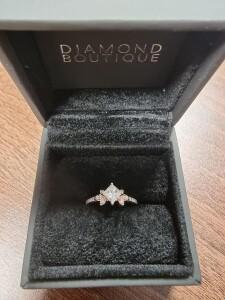 Rose Gold & Diamond Kite Ring