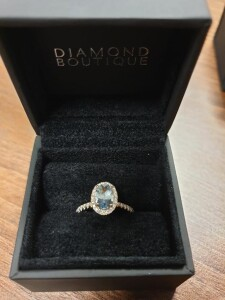 Subtle Blue Gemstone Ring