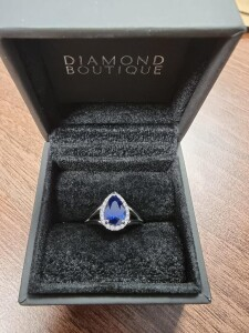 Oval Halo Sapphire Ring