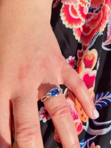 Woman With Engagement Ring On