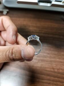 Man Holding Bespoke Ring