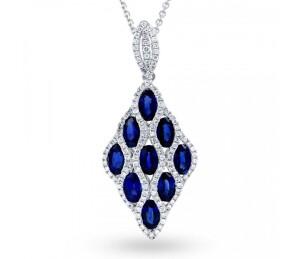vogue blue sapphire pendant