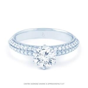 Alia Vintage Diamond Engagement Ring