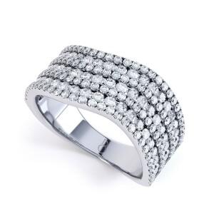 Anoki Diamond Cluster Ring