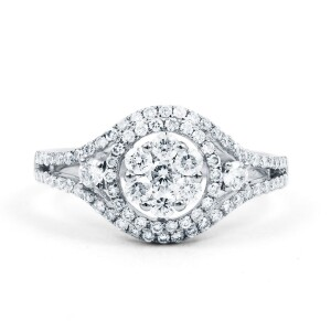 Traditional Diamond Cluster Ring