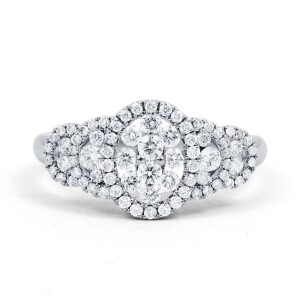 Fancy Diamond Cluster Ring