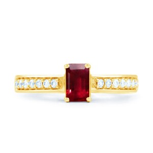 Ruby Gold Engagement Ring