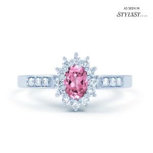 Starlight Pink Sapphire Ring