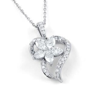 Aphrodite Heart Floral Pendant