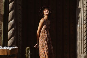 woman wearing a sundress