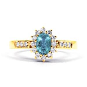 Starlight Aquamarine Ring In Gold